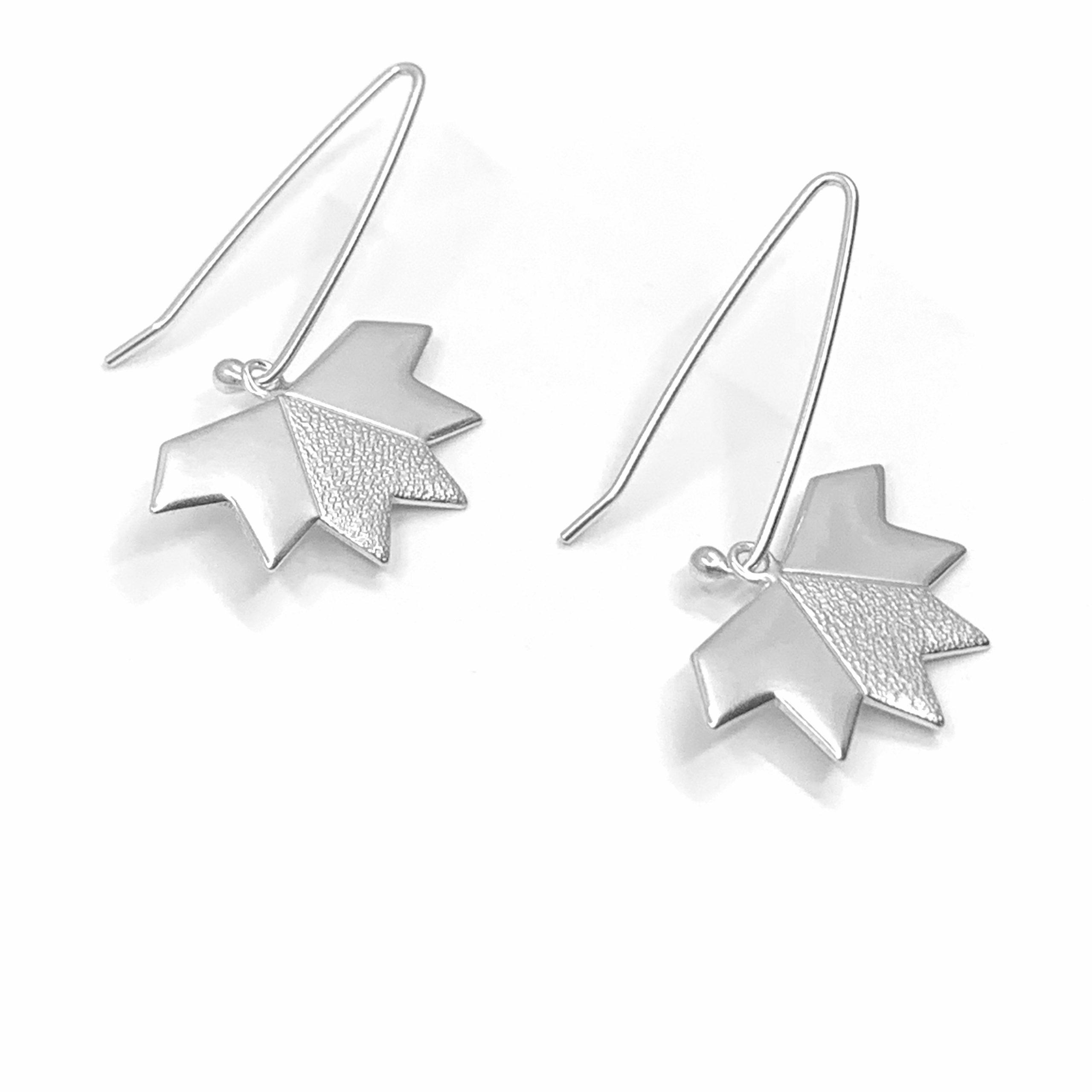 Stardust silver earrings