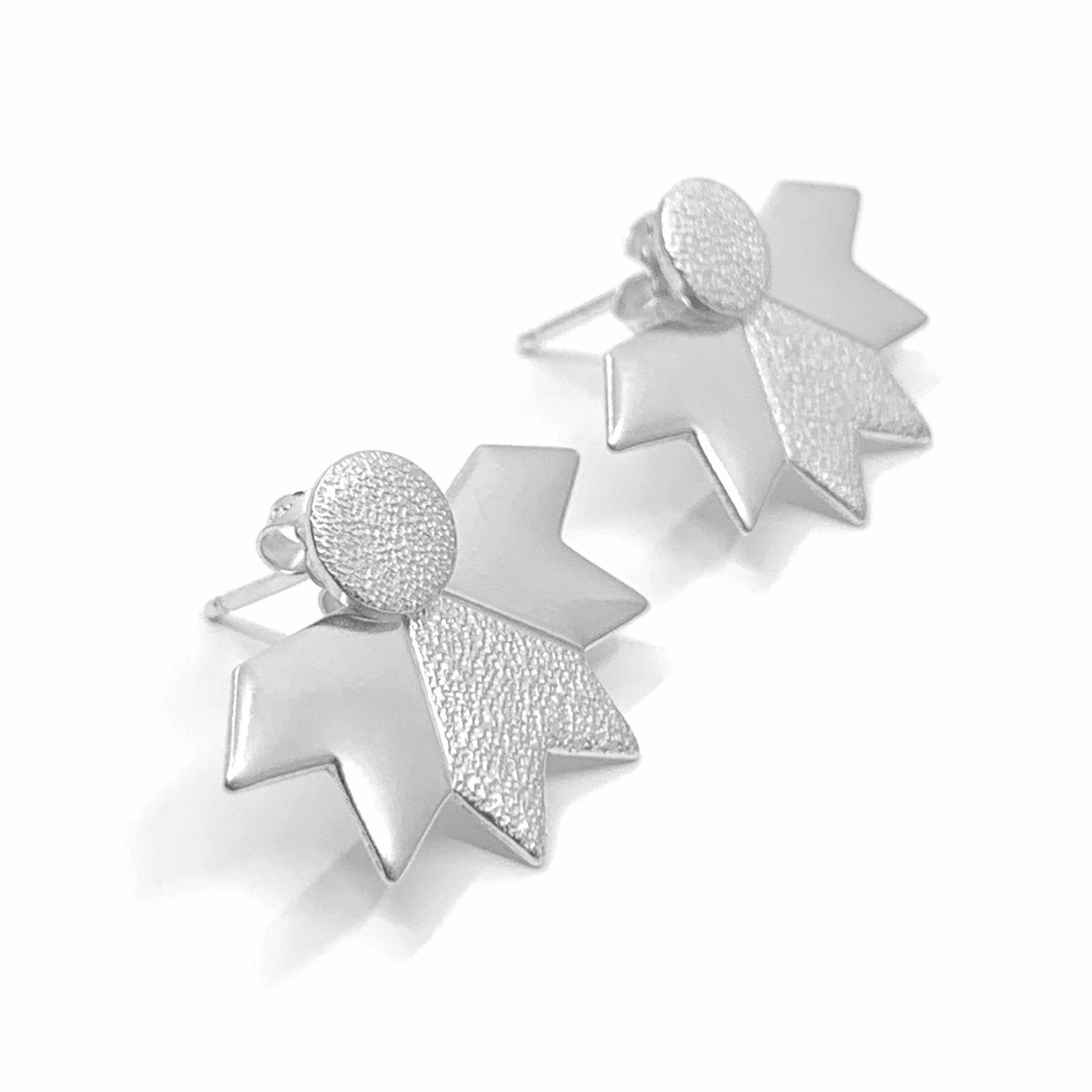 Stardust silver ear jackets