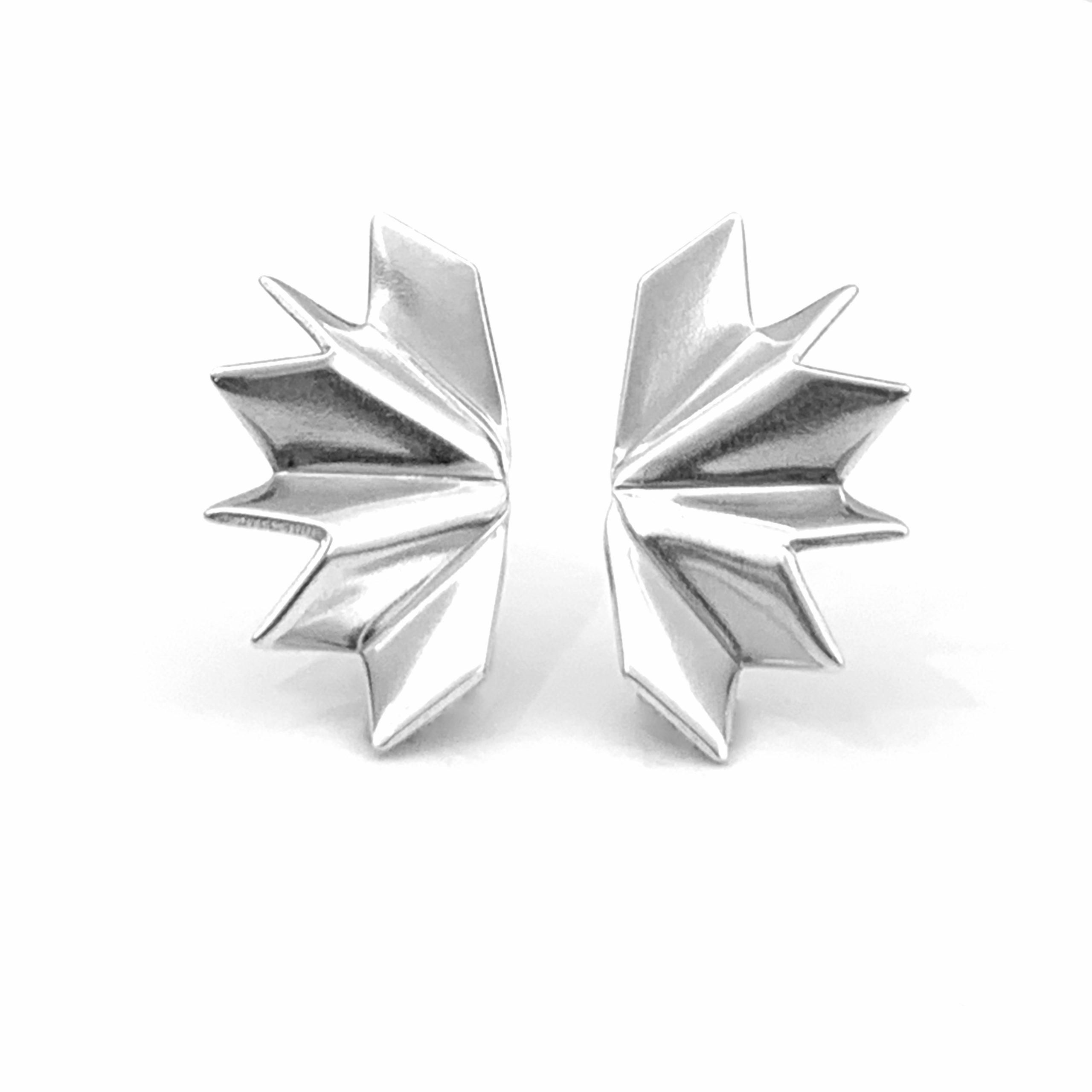 Unfolded silver studs