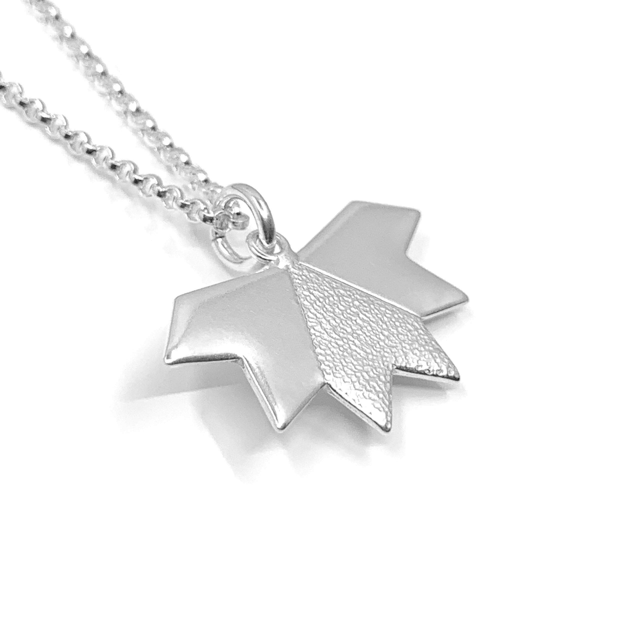 Stardust silver necklace