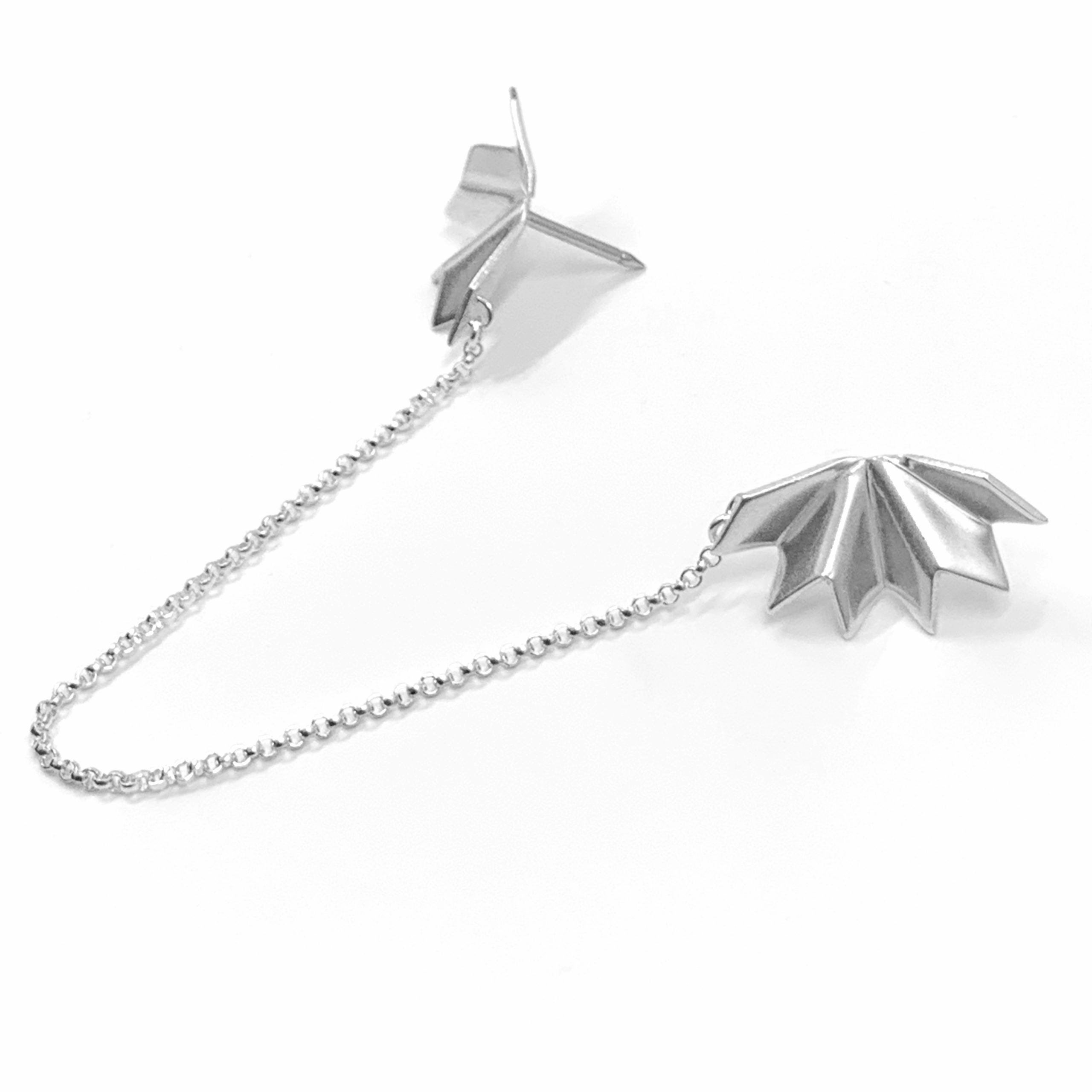 Unfolded silver collar pins