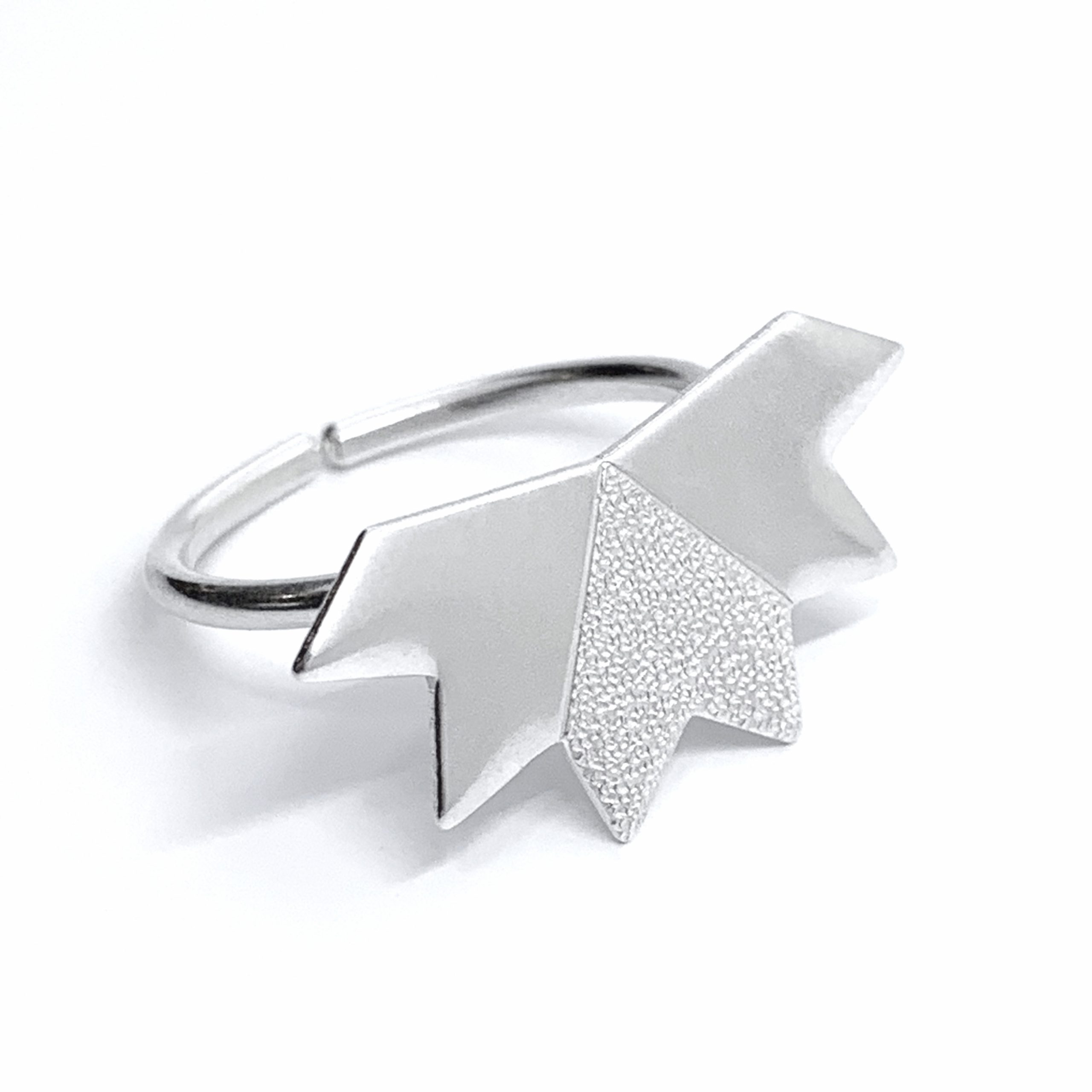 Stardust silver ring