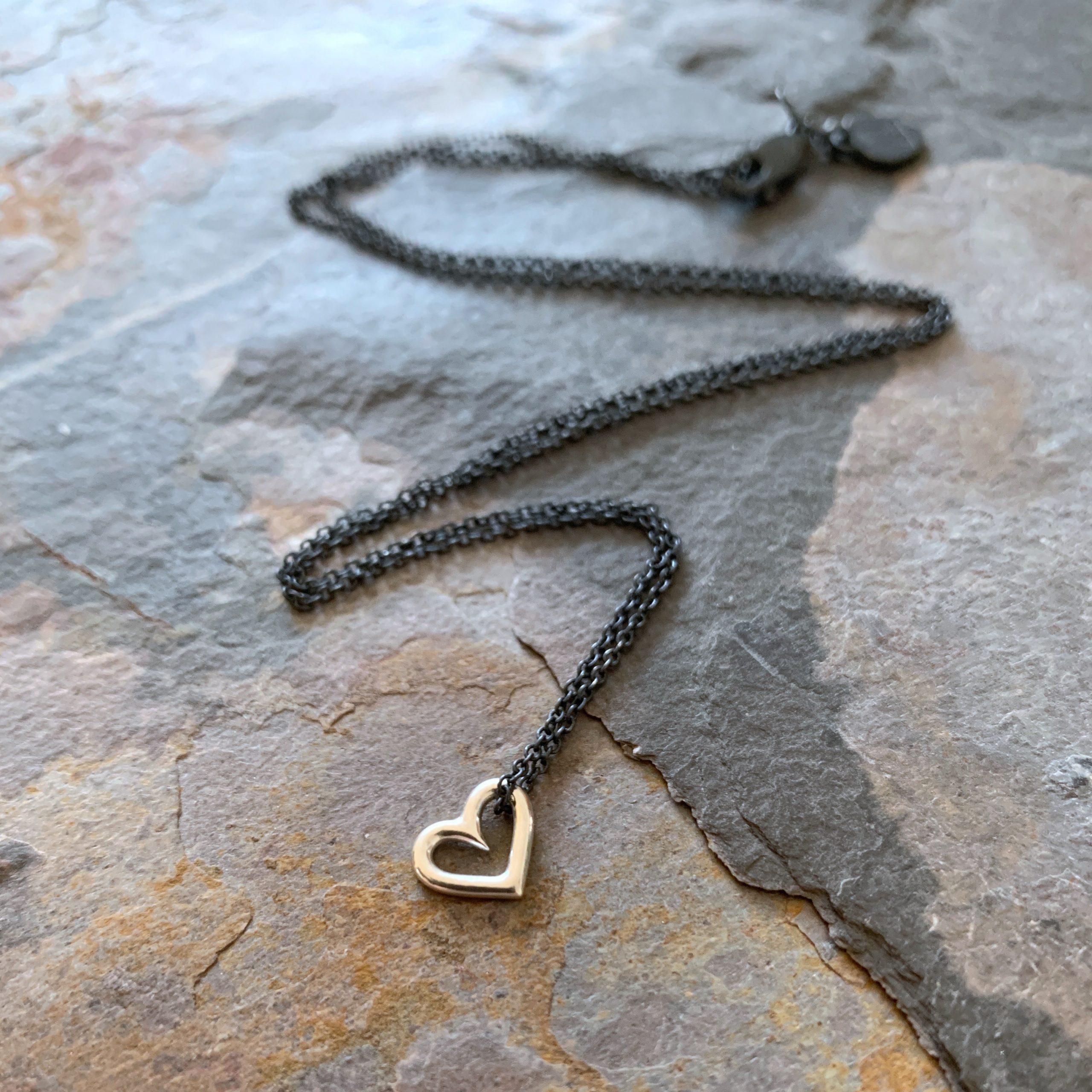 Heartbeats tiny floating heart necklace
