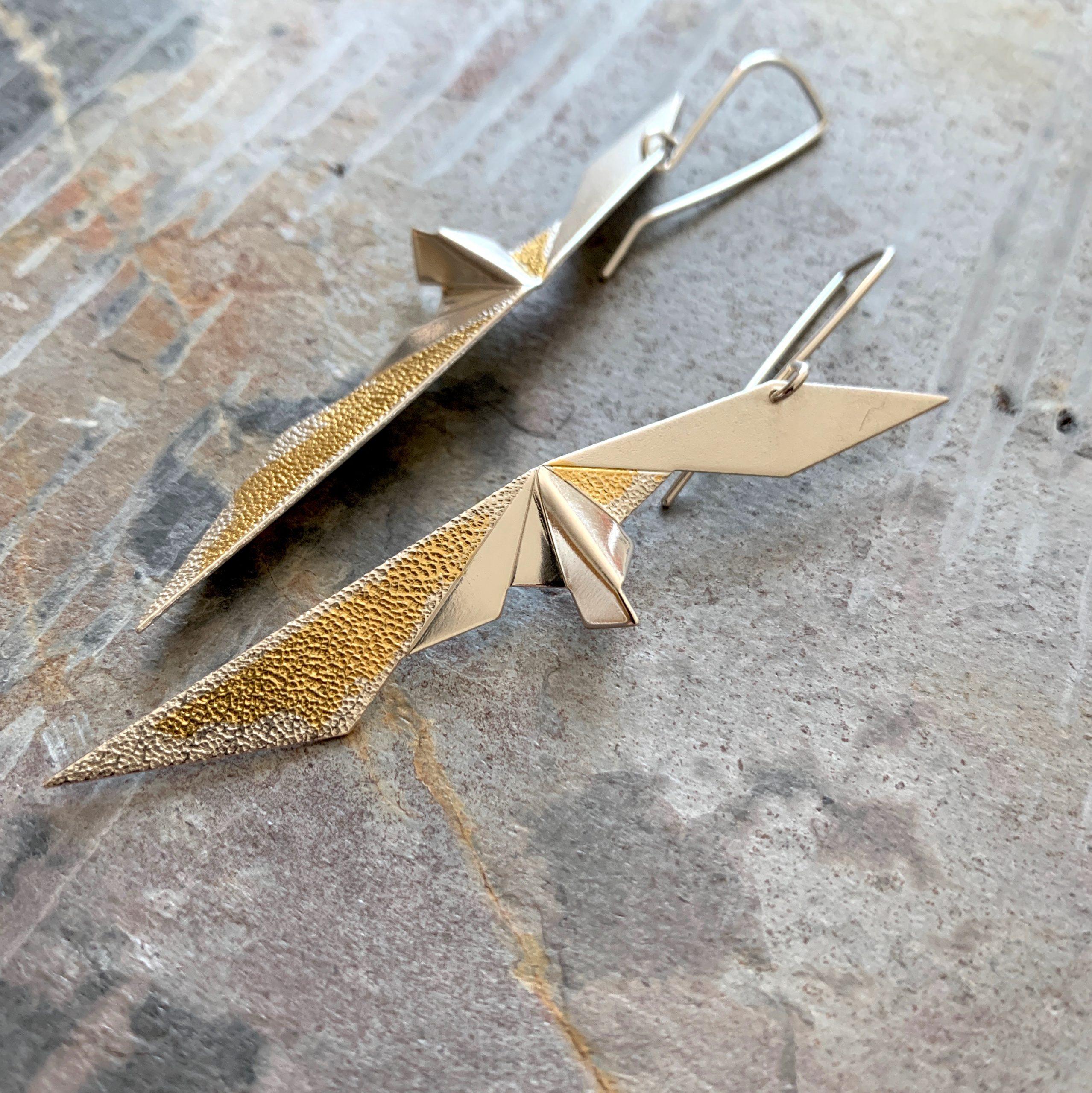 Papilionidae earrings hook OAK