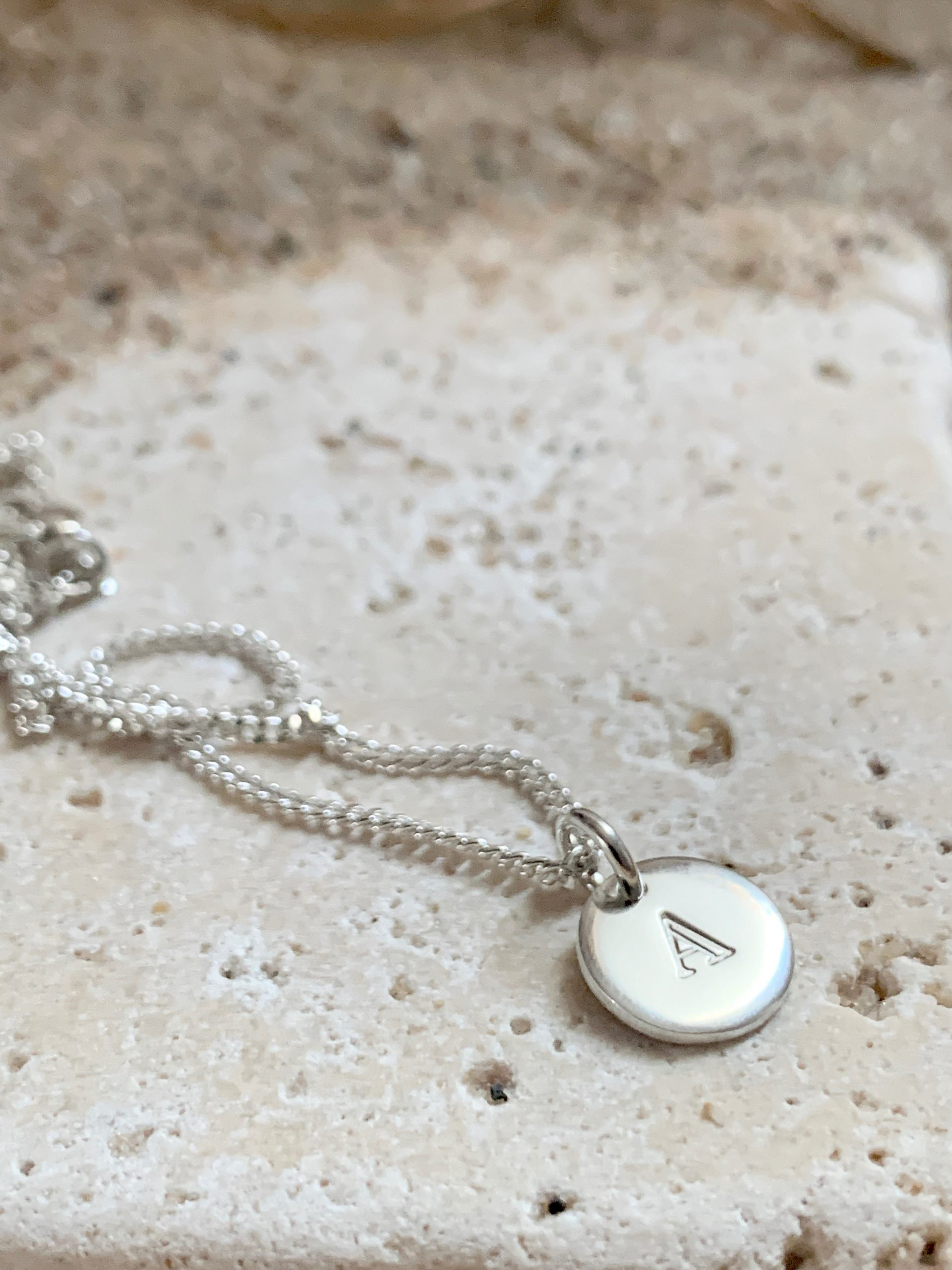 Loved initial necklace