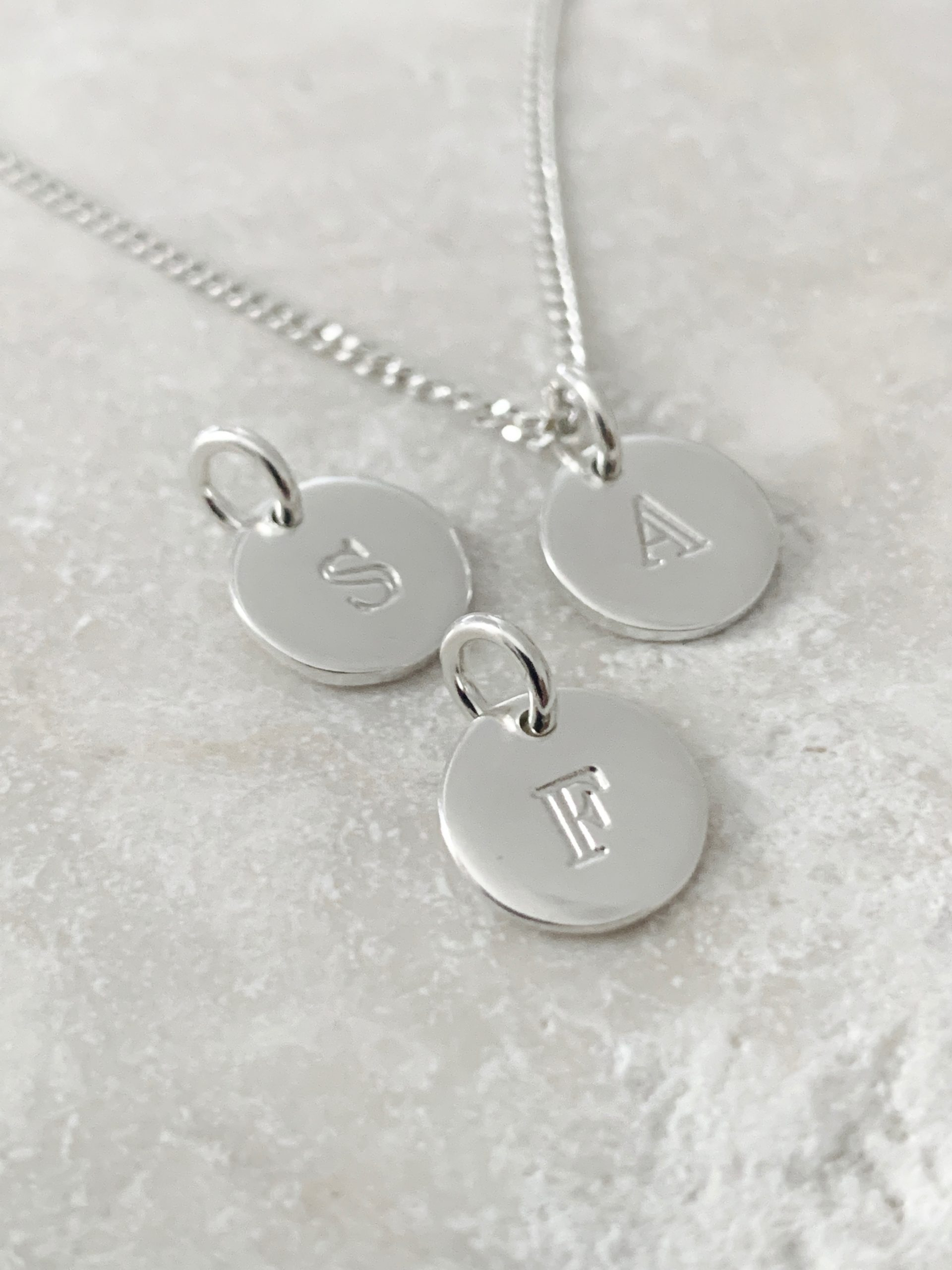 Loved initial pendant only