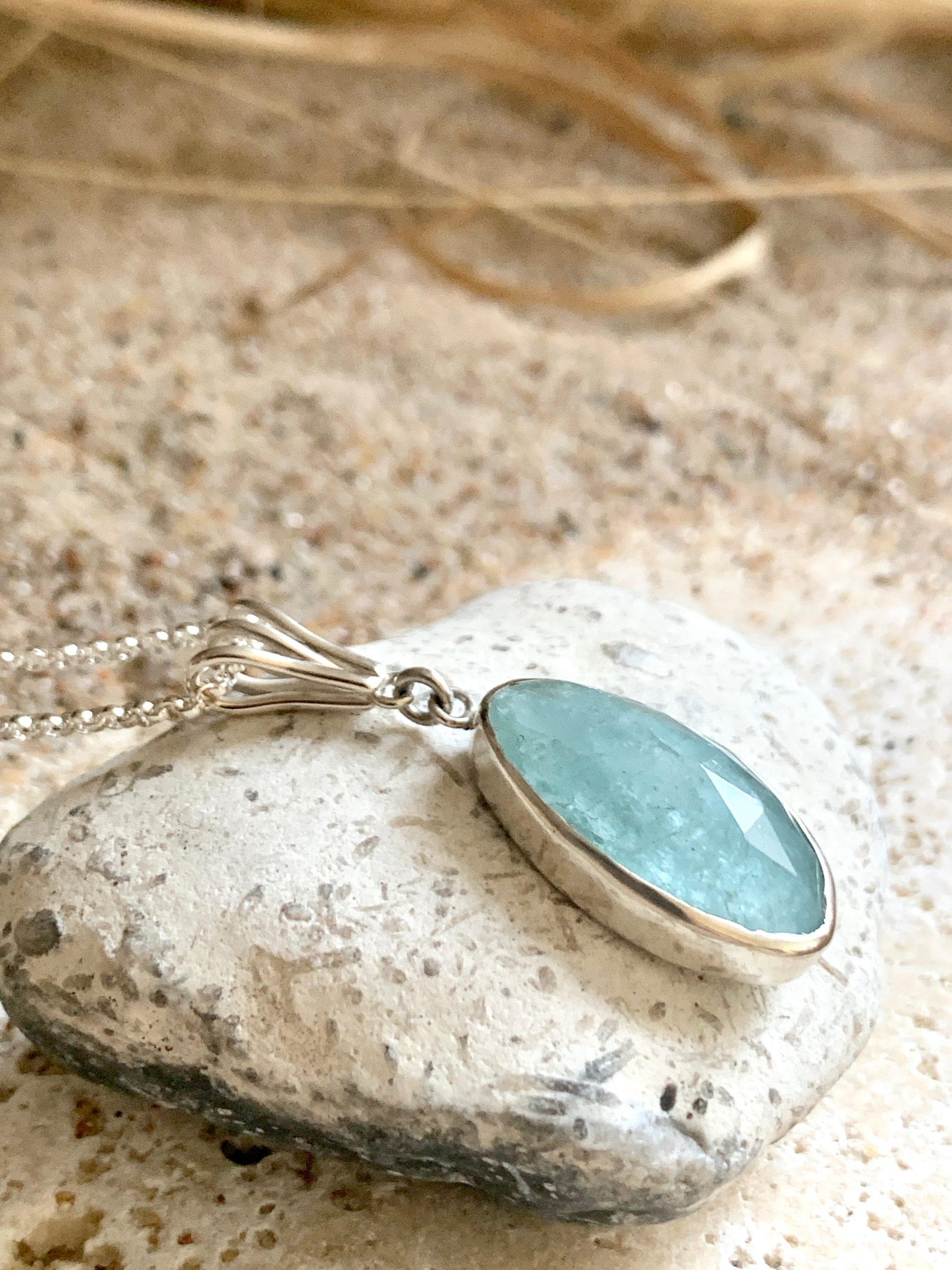 Sunshine Aquamarine necklace OAK no 4