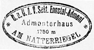 Admonterhaus, Hüttenstempel
