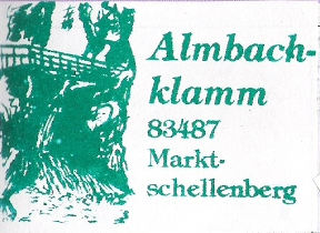 Hüttenstempel Almbachklamm