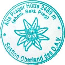 Hüttenstempel, Alte Prager Hütte