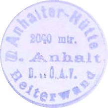 Hüttenstempel, Anhalterhütte