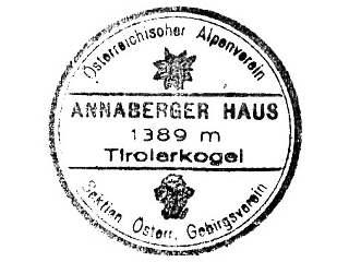 Hüttenstempel Annaberg Haus