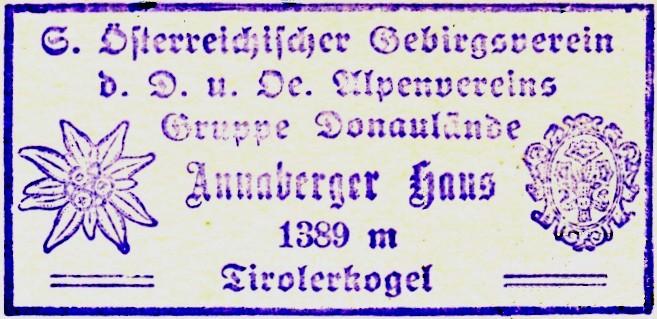 Hüttenstempel, Annaberghaus (1936)