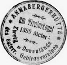 Hüttenstempel, Annaberghaus (1931)