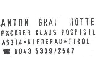 Hüttenstempel Anton Graf Hütte