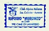 Hüttenstempel Rif Auronzo