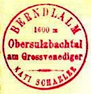 Hüttenstempel, Berndalm (1940)