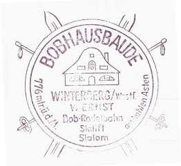 Hüttenstempel, Bobhaus Winterberg