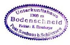 Bodenscheid, Hüttenstempel