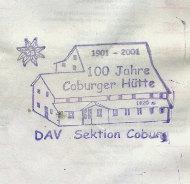 Hüttenstempel Coburger Hütte