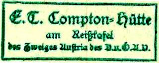 Comptonhütte, Hüttenstempel