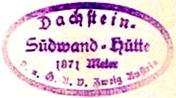 Hüttenstempel, Dachstein-Südwand-Hütte