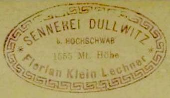 Hüttenstempel, Dullwitzalm