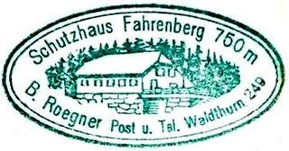 Fahrenberg Schutzhaus, Hüttenstempel