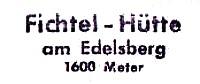Fichtel-Hütte
