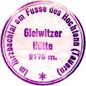 Gleiwitzer Hütte, Hüttenstempel