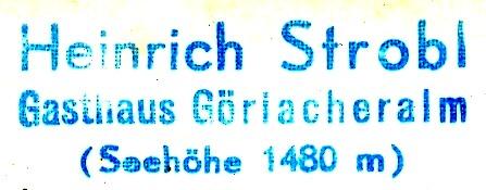 Hüttenstempel, Göriacheralm