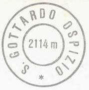 Gottardo Hospiz, Hüttenstempel