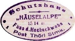 Hüttenstempel, Häuslealm