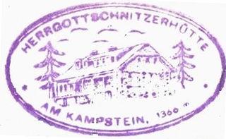 Herrgottschnitzerhütte, Hüttenstempel