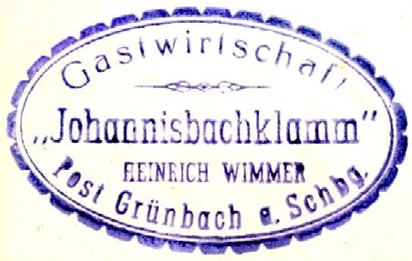 Stempel, Johannisbachklamm