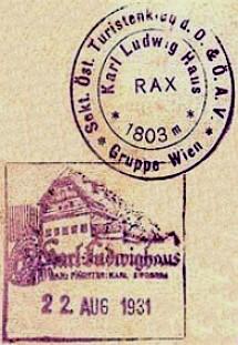 Karl-Ludwig-Haus, Hüttenstempel