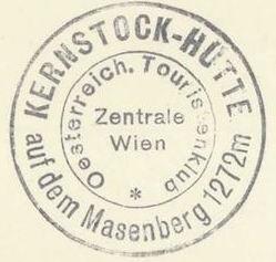 Kernstock Hütte, Hüttenstempel
