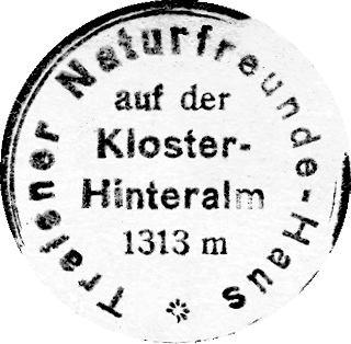 Kloster Hinteralm, Hüttenstempel
