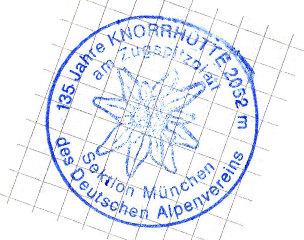 Hüttenstempel Knorrhütte
