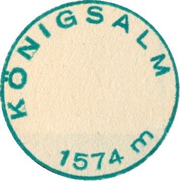 Königsalm, Hüttenstempel