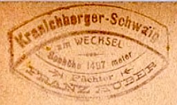 Kranichberger Schweig, Hüttenstempel