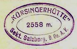 Kürsinger Hütte, Hüttenstempel