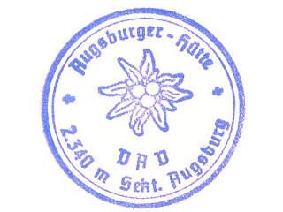 Hüttenstempel Augsburger Hütte