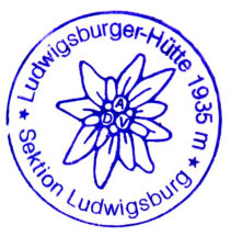 Hüttenstempel Ludwigsburger Hütte