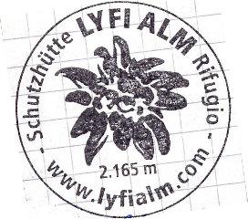 Hüttenstempel Lyfi Alm