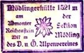 Mödlinger Hütte, Hüttenstempel
