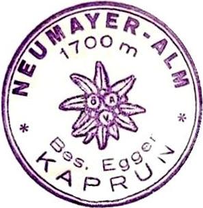 Neumayer Alm, Hüttenstempel