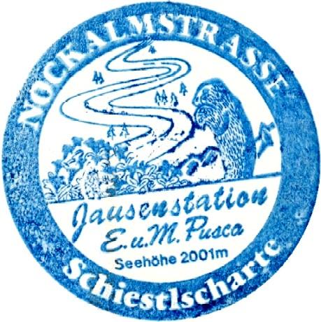Nockalmstraße, Schiestlscharte, Stempel