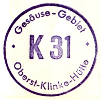 Oberst-Klinke-Hütte Hüttenstempel