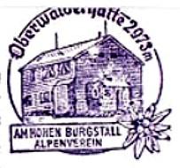 Oberwalder Hütte, Hüttenstempel